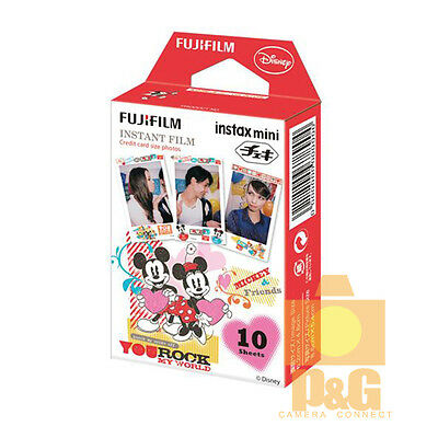 FUJI INSTAX MINI INSTANT FILM 1 PACK (10PCS) MICKEY & Frienda Expired:2016-04