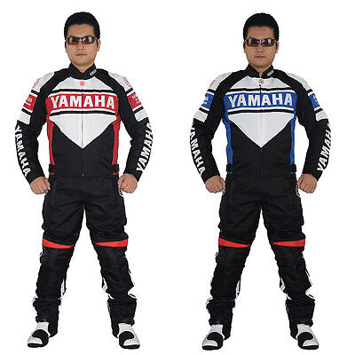 YAMAHA MOTORCYCLE RACING Riding SUIT LEATHER JACKET TROUSER Reflective Stripe