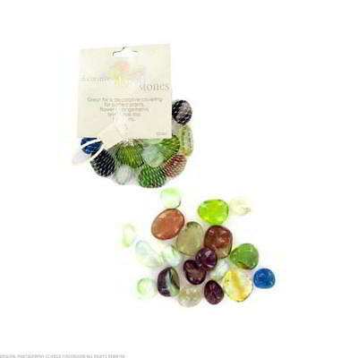 24 Packs of Assorted Glossy Colored Rocks