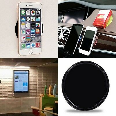 2pcs Silicone Gel Car Round Sticky Unti-Slip Pad Mat Smartphone Holder Fr iPhone