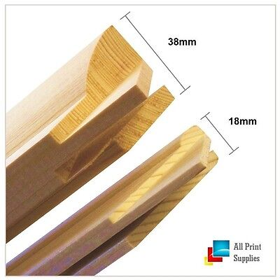 Canvas Stretcher Bars,Canvas Frames, Pine Wood 18mm & 38mm Thick-Sold By Pair`-B