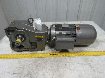 Nord Unicase 5HP 29.20:1 Ratio Right Angle Helical Bevel Gearbox W/Motor & Brake