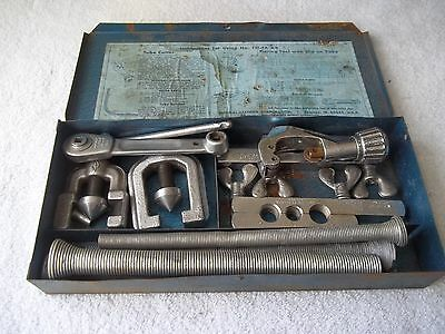 Vintage Imperial No. 121-FA Flaring Tool Kit With Metal Case Made in USA