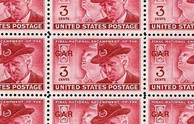 1949 - G.A.R. CIVIL WAR - #985 Full Mint -MNH- Sheet of 50 Postage Stamps