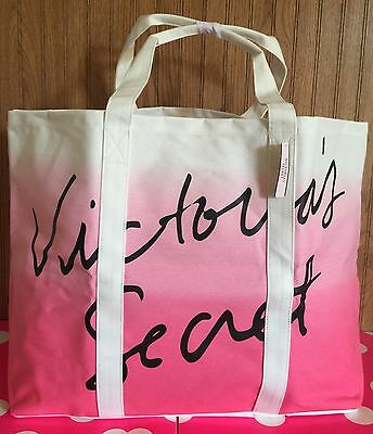 Victoria's Secret Weekender Tote Bag In Ombré White Pink BNWT