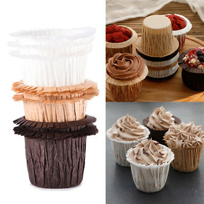 30Pcs Baking Grease-proof Paper Cups Chiffon Muffin Cake Cupcake Wraps Cases