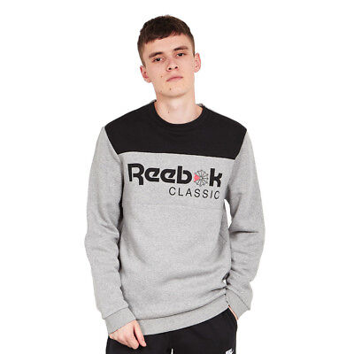 Reebok - F Iconic Crewneck Sweater Medium Grey Heather Pullover Rundhals