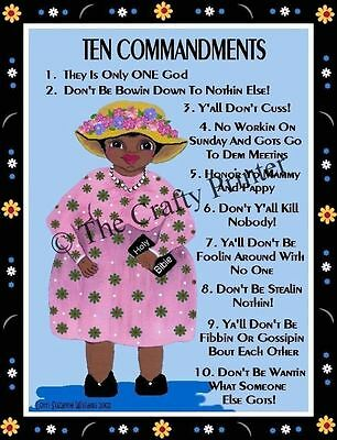 MAMMY MAGNET #50 - Mammy's Ten Commandments