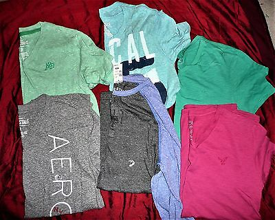 NEW Lot of 6 Aeropostale, American Eagle shirts ** Size SMALL**
