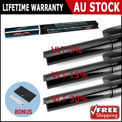 Window Tint Tools Film Black Commercial Car Truck House Glass 7m VLT 5% 15% 30%