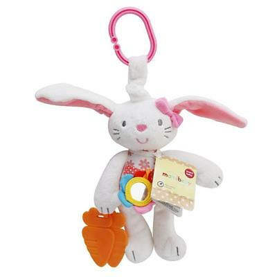 Baby Toy Soft Plush Rabbit Baby Rattle Ring Bell Crib Bed Hanging Animal Toy - S
