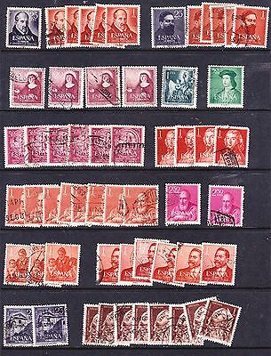 Spain 1953 - 63 General  Issues Used