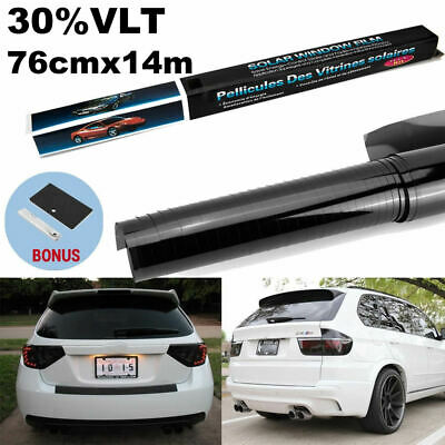 Car Home Window Tint Film Black Roll 15% VLT 760mm*7m + Window Tinting Tools Kit
