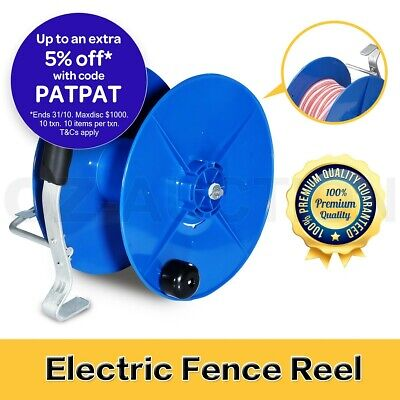 Wind Up Reel Electric Geared UV Stabilized Fence Reel with Crank Handle