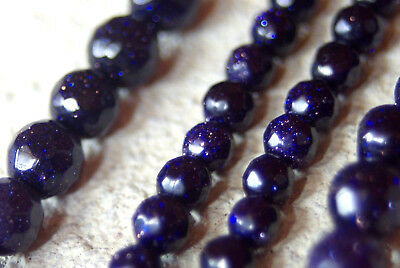 BLUE GOLD STONE gemstone beads, faceted, round 6 mm or 4 mm