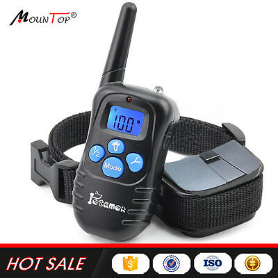 HOT Electronic 100 LVL Shock Beep No Bark Peted Dog Training Collar with Remote