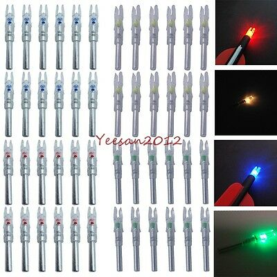 6/12Pcs Automatically LED Lighted Nock For Compound Bow 5.3/6.2MM Arrow Nock