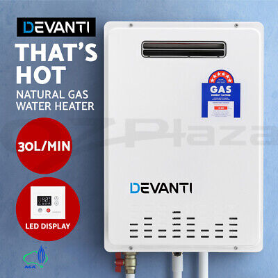 Devanti Gas Hot Water Heater Portable Shower Camping LPG Outdoor Instant 4WD WH
