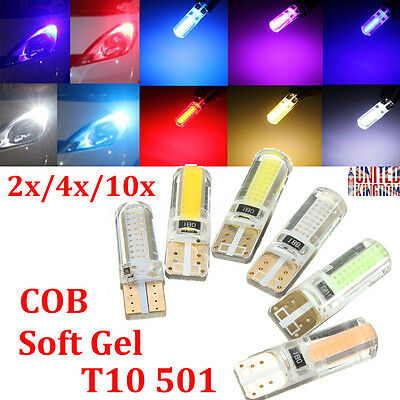 2/4/10x Canbus T10 W5W 501 COB SMD Soft Silicone LED Car Side Number Wedge Light