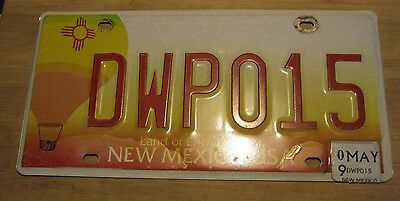 2009 New Mexico Hot Air Balloon License Plate Expired Dwp 015