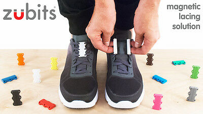 Zubits 2.0-original Magnetic Shoe Lace Closures (sizes 2 & 3) - No more knots !