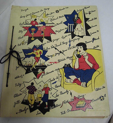 Scrapbook USA von 1959  Buch Album 37x31 cm book Vintage