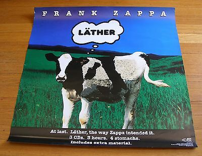 "Frank Zappa 1996 Ryko Records 24""x24"" In-Store Promotional ""Lather"" Poster"