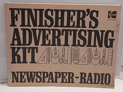 Kodak Finisher's Advertising Kit - Newspaper - Radio 1973 PIO-73 Ad Masters BK4