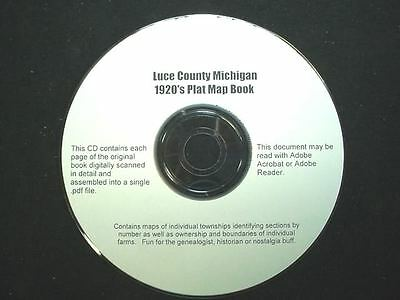 CD ~ 1930's Luce County Michigan Plat Map Book