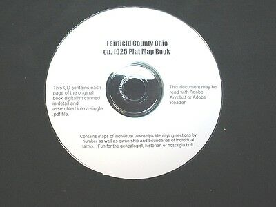 CD ~ 1930's Fairfield County Ohio Plat Map Book