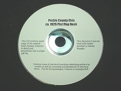 CD ~ 1930's Preble County Ohio Plat Map Book