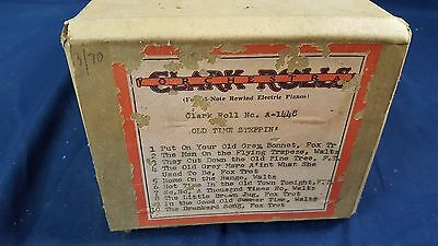 "Clark ""A"" Roll No. A-1448 Nickelodeon Coin Player Piano 1970 Ed Freyer Recut"