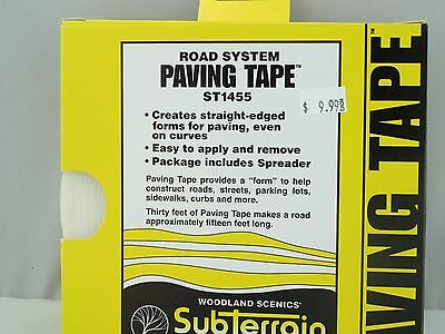 Subterrain Road System PAVING TAPE ST1455 Woodland Scenics 30ft roll