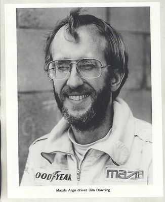 1984 ? Mazda Argo Race Car Driver Jim Downing ORIGINAL Factory Photo wy4560