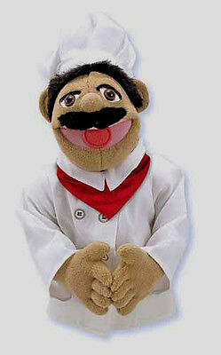 "15"" CHEF PUPPET  Free Shipping in USA~ Very Detailed ~ Melissa & and Doug  #2553"