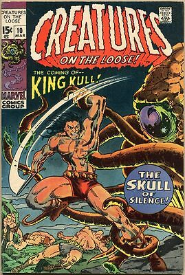 Creatures On The Loose #10 - VG+ - 1st Appearance Of Kull