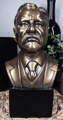 Realistic Historical Sculpture Of USA President Theodore Roosevelt Bust Statue