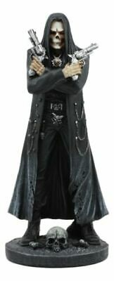 Assassin's Creed Hooded Grim Reaper Skeleton With Dual Beretta Pistols Statue