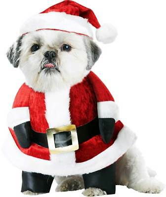 Santa Clause Pup-A-Razzi Dog Character Bib Happy Holidays Christmas Costume Pet