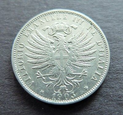 1903R Victor Emanuel Iii Italy 25 Centesimi Coin, Circulated Condition, Lot#458