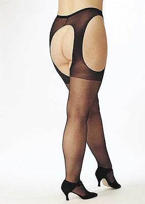 Hot Easy Access Sheer Suspender Pantyhose Hosiery Plus Size Lingerie Adult Women