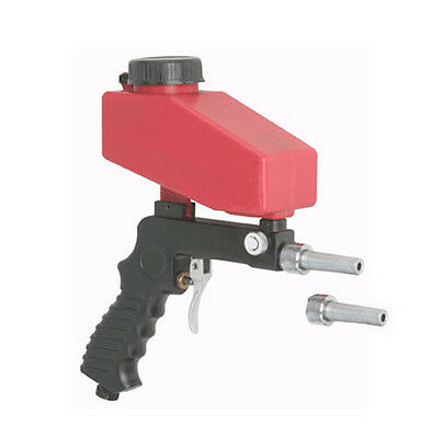 Gravity Feed Portable Hand Held Pneumatic Sand Media Blaster Gun w/ Spare Tip