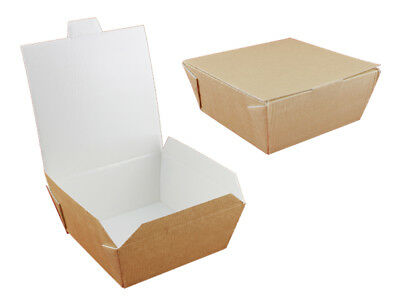 140 Food to Go Box  Sandwichbox 6,3x15,2x15,2 cm hamburgerbox (HBCP0002)