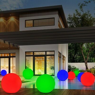 Set of 3 Balls MEADOW Water Lighting IP44 Courtyard House Decoration 360 Lumens