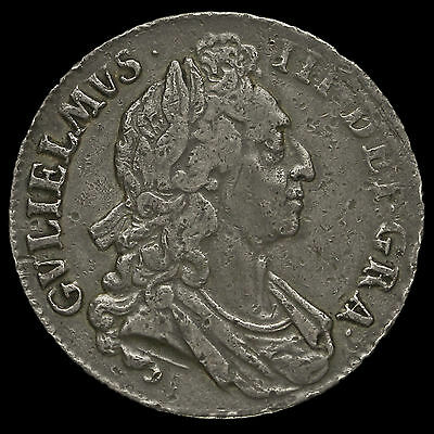 1695 William III Early Milled Silver Septimo Crown