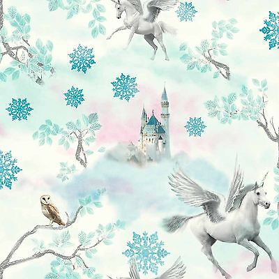 Fairytale Unicorn Wallpaper Rolls - Blue - Arthouse 667800 New