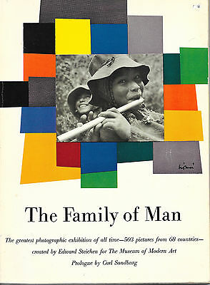 THE FAMILY OF MAN - Edward STEICHEN 1955 1st Edition Softcover MOMA MACO Photos