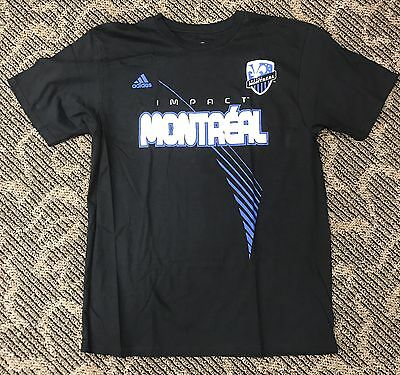 Montreal Impact Adidas GO-TO TEE Men s Shirt Size L Two-Sided Printing 6208199b3