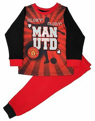 Kids Manchester United Football Club Boys Pjs Pyjamas Ages 3-12 Years (MU84)