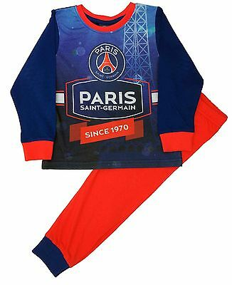 Kids Paris Saint Germain Football Club PSG Boys Pjs Pyjamas Ages 3-12 Years